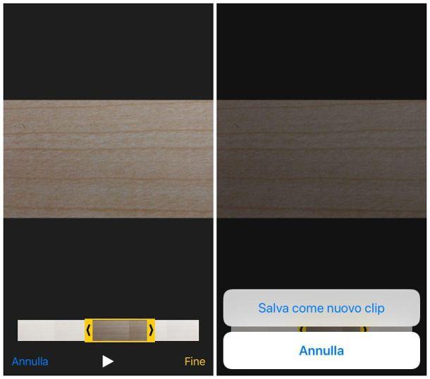 Tagliare un video senza scaricare programmi su iPhone e iPad
