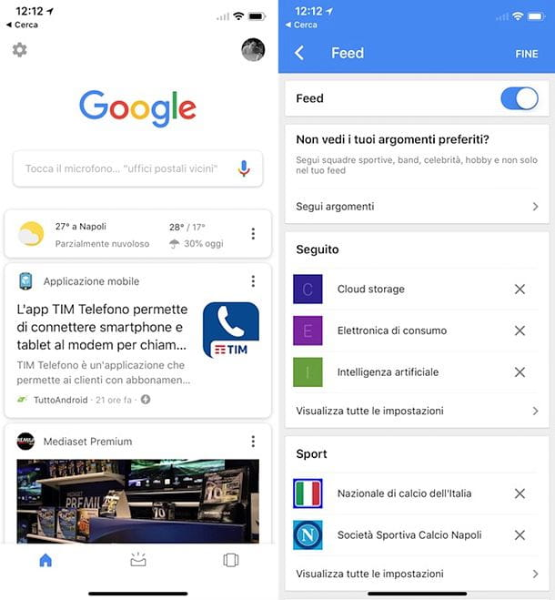 Come attivare le notizie su Google per iOS