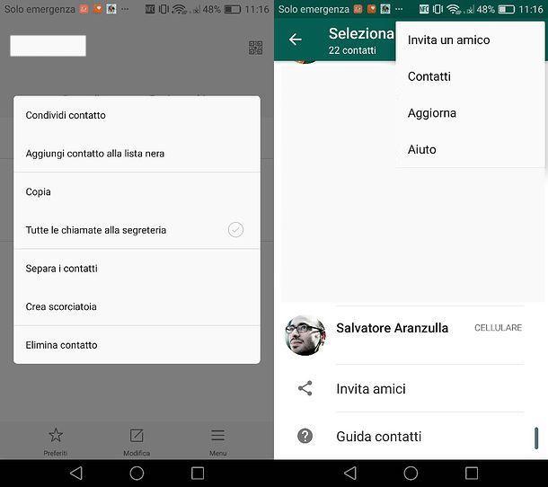 Come eliminare un contatto dal server di WhatsApp