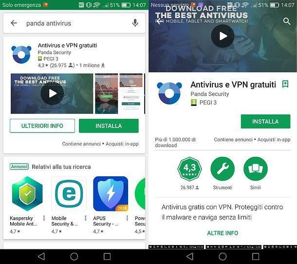 Panda VPN per Android