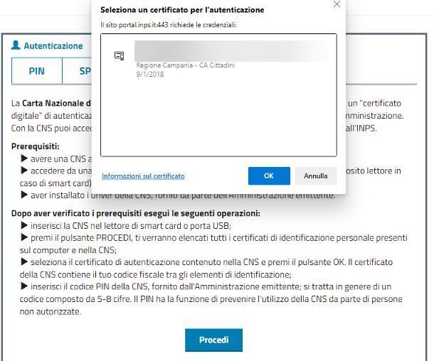 Come accedere al sito INPS con Tessera Sanitaria abilitata CNS