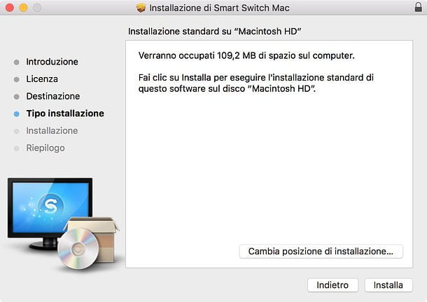 Installazione Smart Switch Mac