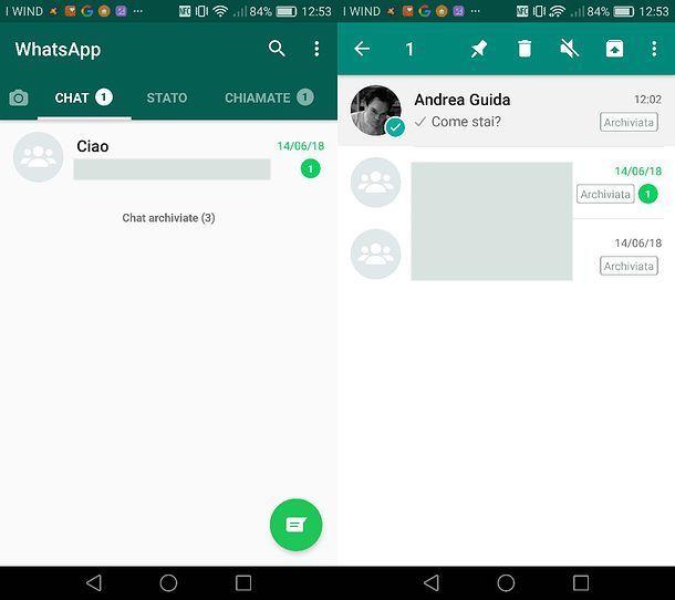 Archivio WhatsApp Android
