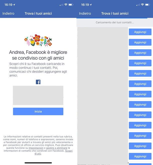 Come sincronizzare contatti iPhone con Facebook