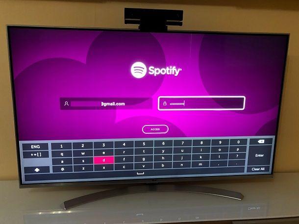 spotify su smart tv samsung