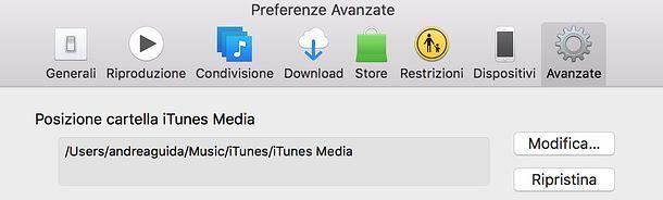 Cartella iTunes