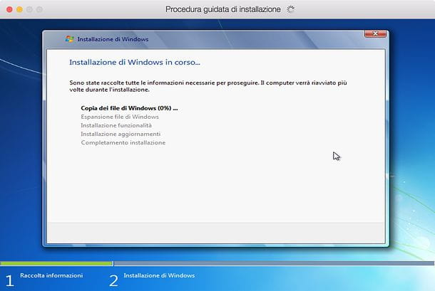Installazione di Windows in Parallels Desktop