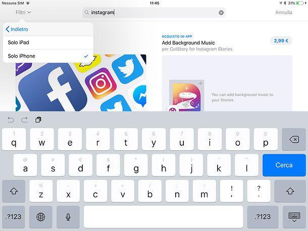 Come scaricare Instagram su iPad