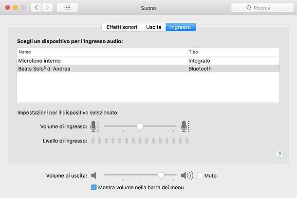Come attivare il microfono delle cuffie su Mac