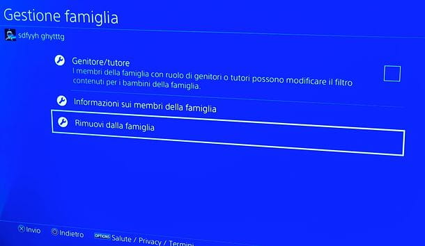 Come eliminare un account PS4