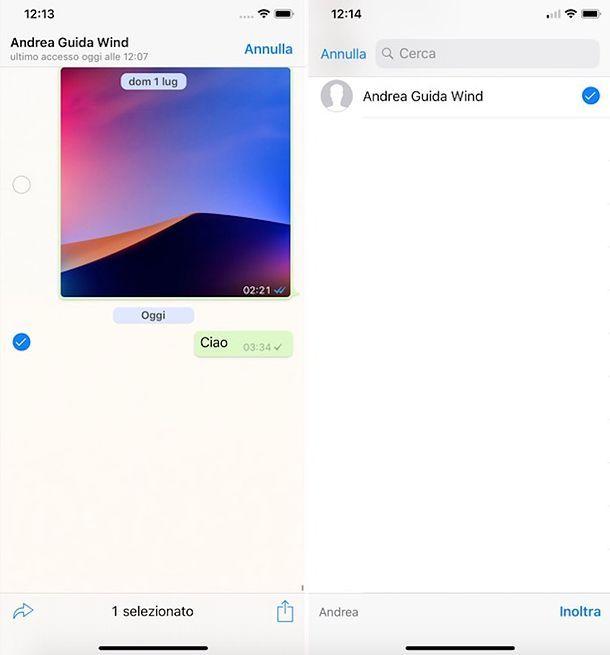 Come inoltrare messaggi bloccati su WhatsApp da iPhone