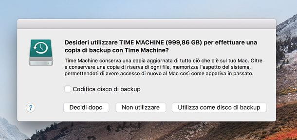 Come effettuare un backup Mac con Time Machine