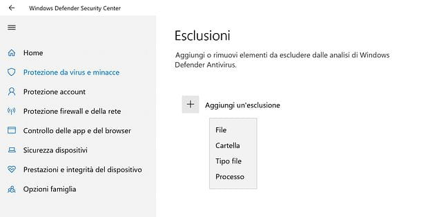 Come disattivare Windows Defender