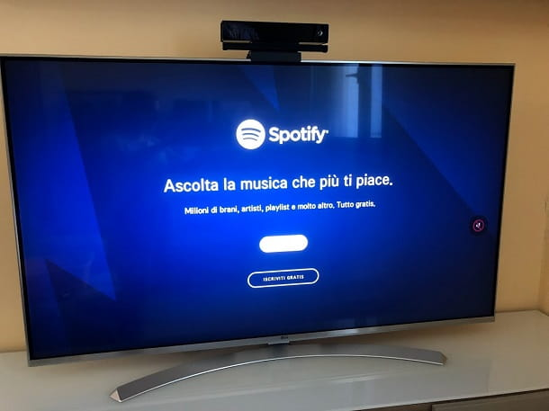 spotify su smart tv samsung