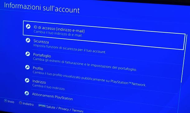 Come modificare un account PSN