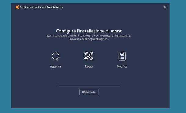 Come disinstallare Avast da Windows