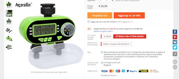 Pagare su AliExpress con PayPal