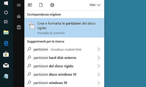 Gestione Disco Windows 10
