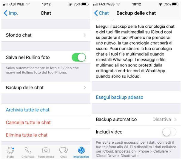 Come trasferire WhatsApp da un telefono all'altro - iPhone
