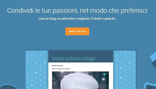 Come creare un blog gratis su Google