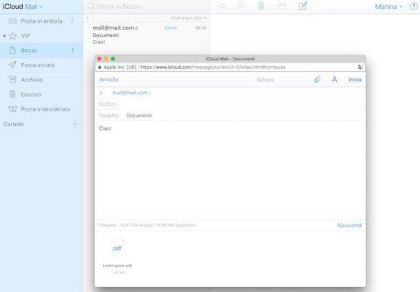 Come inviare allegati via mail