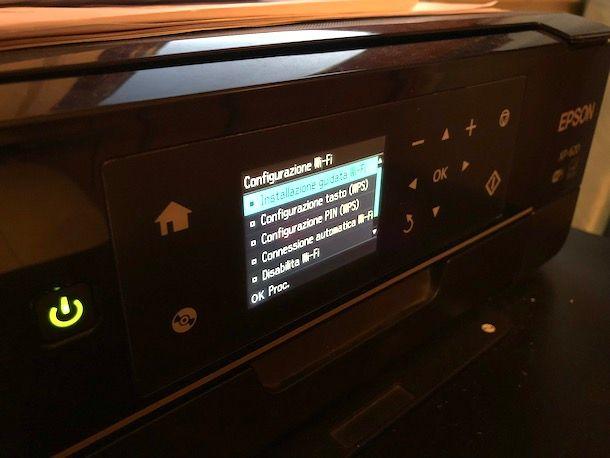 Come installare stampante Epson WiFi