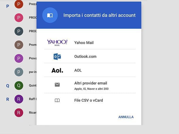 Come sincronizzare contatti iPhone con Gmail