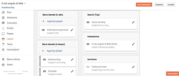 Come creare un blog gratis su Google - Layout
