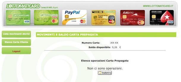 Verificare saldo carta PayPal
