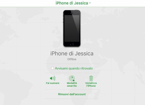 bloccare cellulare rubato iphone