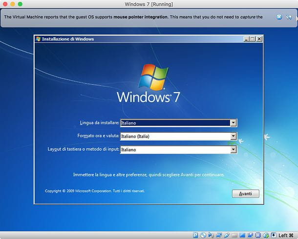 Installazione Windows in VirtualBox