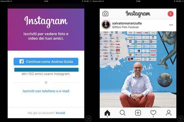 Come usare Instagram su iPad