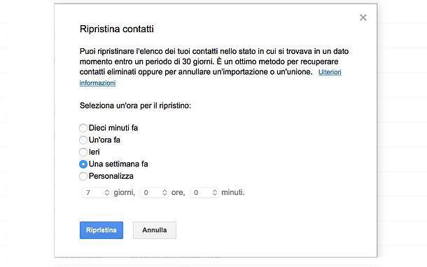 Come recuperare i contatti da Google