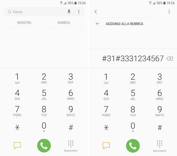 Come nascondere il numero di cellulare Samsung