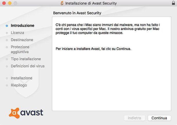 Installazione Avast Mac