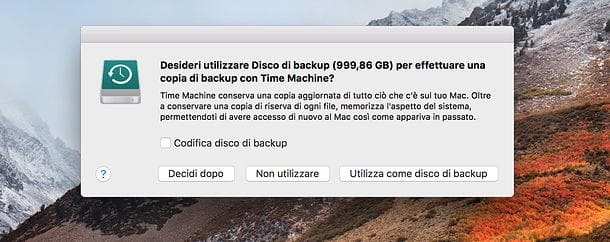 Come clonare hard disk Mac con Time Machine