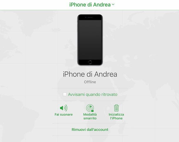 Come resettare iPhone da spento da remoto