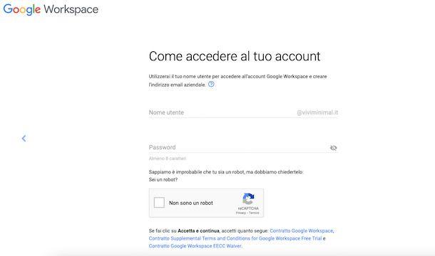 Account aziendale Gmail
