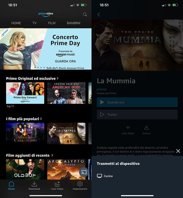 Come vedere Amazon Prime Video su smartphone e tablet