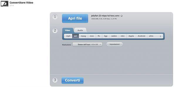 Convertitore Video 123Apps