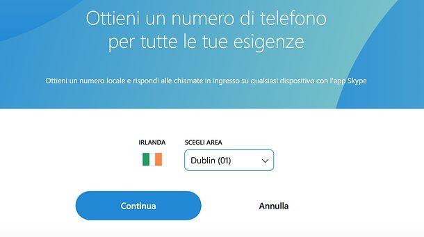 Come avere un numero Skype