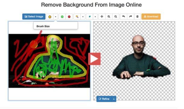 Modificare foto togliendo lo sfondo