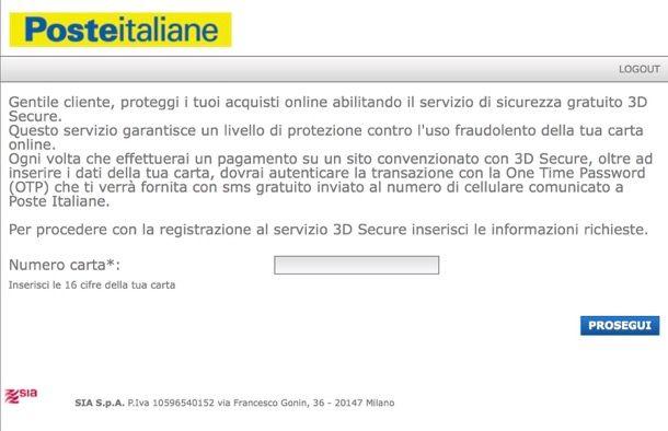 Guida all'attivazione del Servizio 3D Secure - Mastercard ...