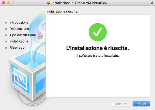 Installazione VirtualBox Mac