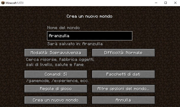 Comandi Minecraft