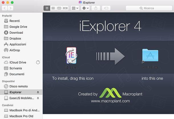 Installazione iExplorer Mac