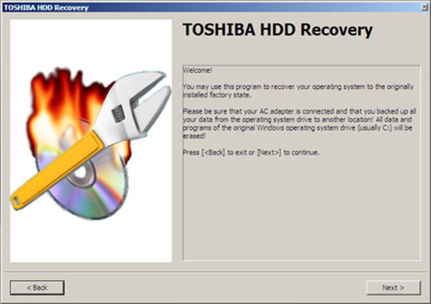 Toshiba partizione nascosta Windows