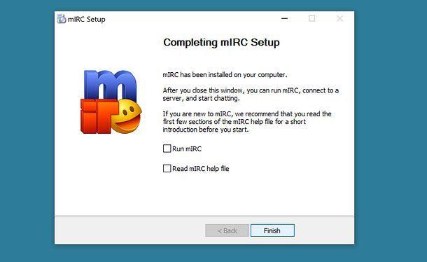 Installazione di mIRC