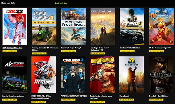 Deals with Gold Xbox Live Gold