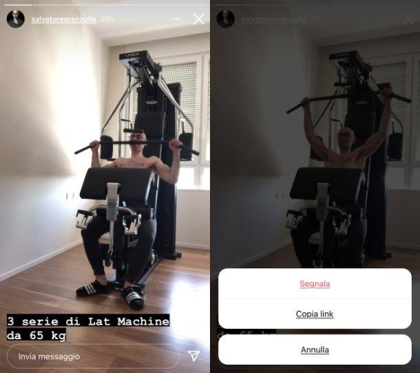 Come copiare link storia Instagram
